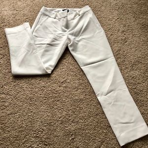 fully lined cream/off white ankle pants